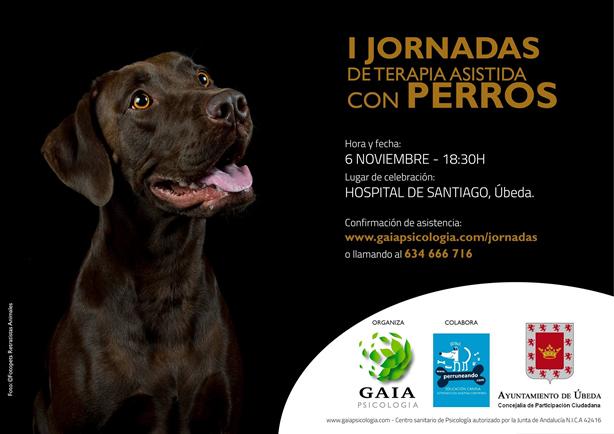 Gaia psicologia jornadas terapia asistida perros